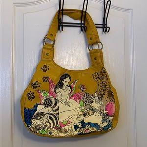 Yellow three pocket Alice purse